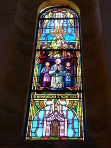 LP, Abbé Mochot, raam in de kerk, Laneuvelle