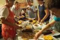 La journée du pèlerinage, le repas, 27 août 2016